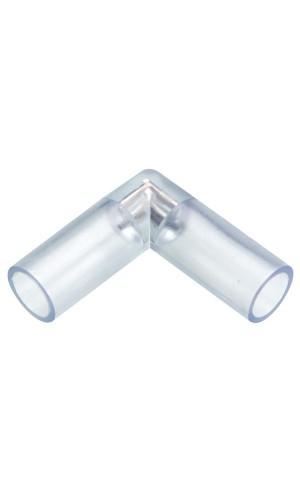 Conector en L para mangueras a leds - Conector en forma de