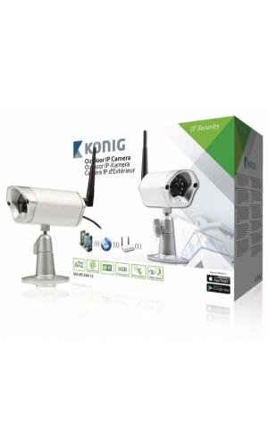 Cámara IP para vídeovigilancia remota en exteriores - Cámara IP para vídeovigilancia remota en exteriores, plateada.Ref: sas-ipcam115