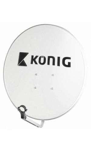 Antena fija ofsset 80 cm - Antena de acero de 80 cm con recubrimiento de poliéster. (No enviamos este producto por cuestiones de volumen a Canarias,Ceuta y Melilla).Se entrega sin LNB.Ref: sat-sd80