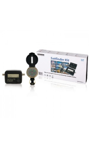 Localizador de Satélites + Brújula - Conjunto de Medidor electrónico de potencia de señal de satélite + Brújula.Ref: satfinder-kit
