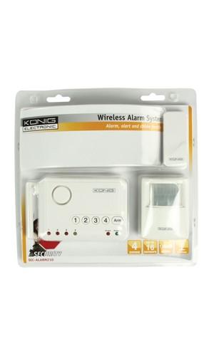 Sistema de alarma inalámbrico - Sistema de alarma inalámbrico König.Ref: sec-alarm210