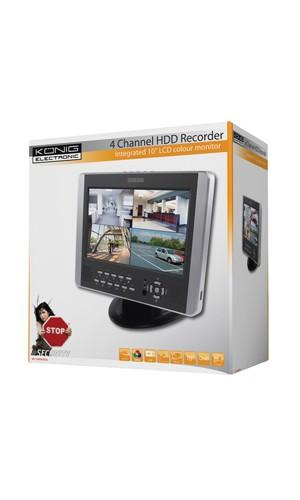 Monitor de 10P. con grabador de disco duro - Monitor de 10 pulgadas con grabador de disco duro.Ref: sec-dvrmon20