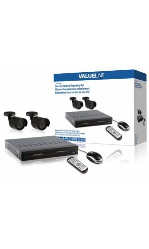 Kit de seguridad con dos cámaras + disco duro incluido - Sistema de cámaras para grabación de seguridad equipado con un disco duro integrado de 500 GB.Ref: svl-setdvr30