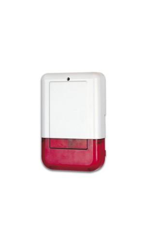 Sirena ext.con luz y bateria - Sirena exterior con luz estrobóscopica  para sistema de alarma con bateria de reserva.Mod.: sv/psl2.Ref: svpsl2
