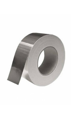 Cinta Adhesiva de Aluminio 50 mts - Cinta adhesiva de aluminio,especial para altas temperaturas de 10 mts.Ref: tape-alu50