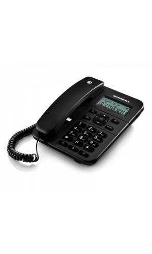 Teléfono de sobremesa profesional pantalla LCD negro - Teléfono Motorola  sobremesa con pantalla, memorias y manos libres negro.Ref: telf065n