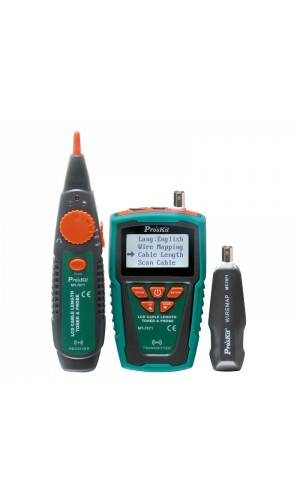 Comprobador LCD de longitud cable, localizador por tono - Comprobador LCD de longitud cable, localizador por tono Proskit MT-7071.Ref: tesmt7071
