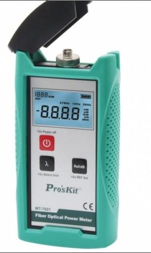 Medidor de Potencia Fibra Óptica - Medidor de Potencia Fibra Óptica Proskit.Ref: tesmt7601