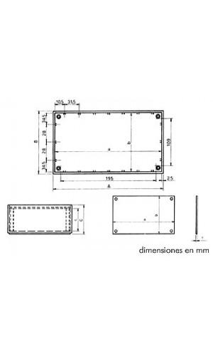 Caja de Plástico 215 X 130 X 77 - Caja de plástico modelo