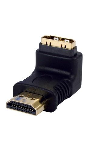 Adaptador  HDMI en angulo - Adaptador  HDMI en angulo bañado en oro.Ref: vc-010g