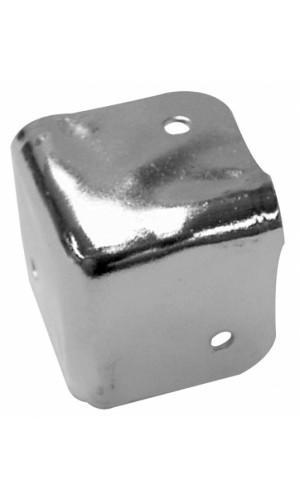 Cantonera caja acústica blanca - Cantonera para caja acústica de metal blanco 38 x 38 mm, x 90°.Ref: vdac21