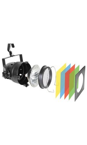 Foco PAR56 Pack Largo+Bombilla+Filtros - Foco PAR56 Pack  Largo+Bombilla+4 Filtros+gancho. Ref: vdlp56sbs