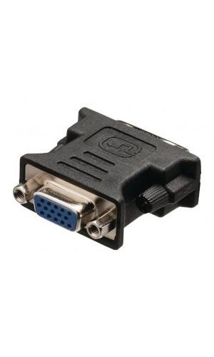 Adaptador DVI Macho a VGA hembra - Adaptador DVI, DVI-I 24 + 5-pines macho - VGA hembra negro.Ref: vlcb32900b