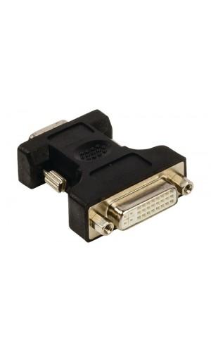 Adaptador DVI Macho a VGA macho - Adaptador VGA - DVI de VGA macho - DVI-I 24+5-pines hembra en color negro Valueline.Ref: vlcp32901b