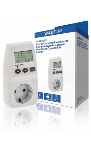 Medidor de consumo eléctrico  - Medidor de consumo eléctrico para enchufe de interior con diferentes parámetros.Ref: vlmeter01