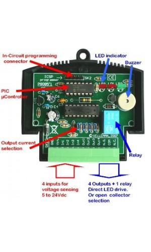 Módulo Aplicación PIC-PLC - Módulo de aplicación en miniatura PIC-PLC.Ref: vm142