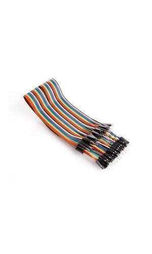 Cable puente de 40 polos macho macho - Cable de puente 40 polos 30 cm macho a macho , cable plano .Ref: vma413