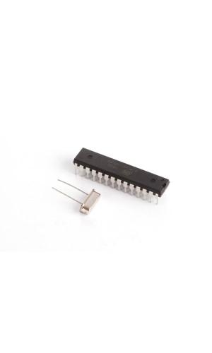 Circuito Integrado ATMEGA328P y Oscilador - Circuito Integrado ATMEGA328P CI MCU con Bootloader Arduino® UNO y oscilador de cristal 16 MHz.Ref: vma416