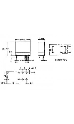 Relé 16A/30VDC-220VAC 1 24Vdc  - Relé vertical 16A/30VDC-220VAC 1 x inversor 24Vdc.Ref: vr16v241c