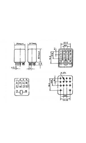 Relé Alta Potencia 220VAC - Relé de alta potencia 3A/28VDC-220VAC 4 x inversores 240Vdc.Ref: vr3hd2404c
