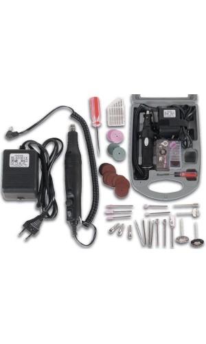 Juego taladro 220V y accesorios - Juego de taladro y grabado con 40 accesorios.Ref: vthd21b