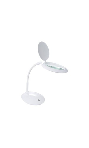 Lámpara led con lupa con intensidad de luz regulable - Lámpara led con lupa con intensidad de luz regulable de 3 dioptrias color blanco.Modelo : vtllamp14