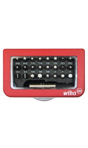Caja de Bits con clip de cinturón - Caja de Bits con clip de cinturón con 31 uds. Wiha.Ref: wh35493