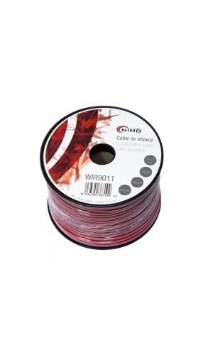 Cable Altavoz-Rojo/Negro-2x0.75mm²-100m