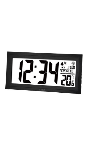 Reloj de pared DCF con calendario,temperatura