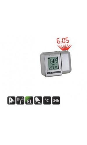 Reloj DCF con proyección de hora con alarma - Reloj radiocontralado con proyección de la hora.Ref: wt535n