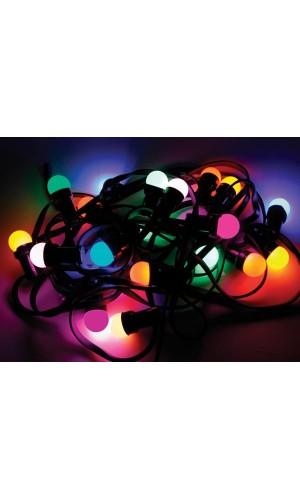 Cadena de Luz Festiva  - Cadena de luz festiva de 11,5 mts con 20 bombillas de colores led.Ref: xmpl10rgb