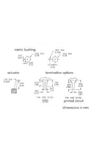 Pulsador Mini de palanca  - Pulsador tipo Interruptor de palanca  SPDT vertical (ON)-OFF-(ON).Ref: 8014a