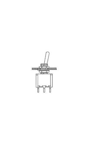 Conmutador palanca mini - Conmutador miniatura spdt de palanca,contactos para soldar.(no para circuito impreso).Ref: 8013lc