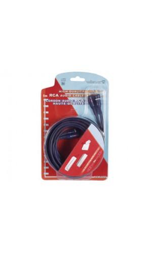 Conex.2 RCA a 2 RCA macho + cable alim.5 m.