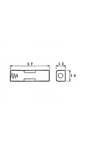 PortaPilas para 1 pila AA Soldable - PortaPilas para 1 pila AA Soldable  ref: bh311d