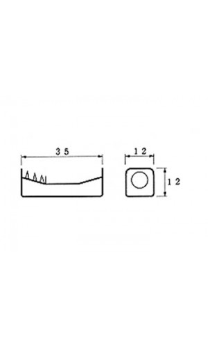 Portapila para 1 pila N - Portapila para 1 pila formato N con contactos para soldar.Ref: bh511d