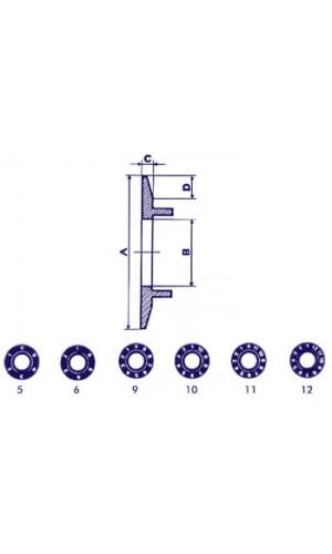 Disco Indicador para Botón de 21mm (Transparente) - Disco Indicador para Botón de 21mm (Transparente-Blanco 12 Dígitos) ref: cp21tw12