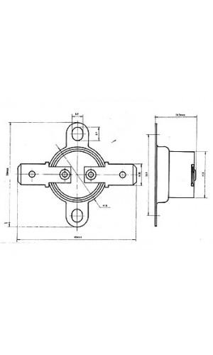 Interruptor Térmico NC - 60°C - Interruptor Térmico NC - 60°C  ref: cpb60