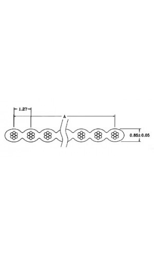 Cable Plano 40 Conductores Gris - Metros de cable plano de 40 conductores color gris.Ref: fc40gl