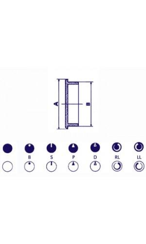 Tapa para Botón de 21mm (Negro) - Tapa para Botón de 21mm (Negro) ref: dk21n