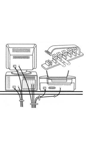 Juego cadenetas para cableado - Juego de cadenetas y accesorios para ordenar cableados en ordenadores,TV,etc.Ref: ectset1