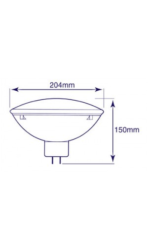Lampara PAR64 1000W / 240V, GX16D - Lampara PAR64 1000W / 240V, GX16D. Ref: lamp1000P64s