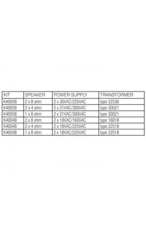 Alimentación para  K4004B y K4005B - Alimentación para  K4004B y K4005B  ref: k4006