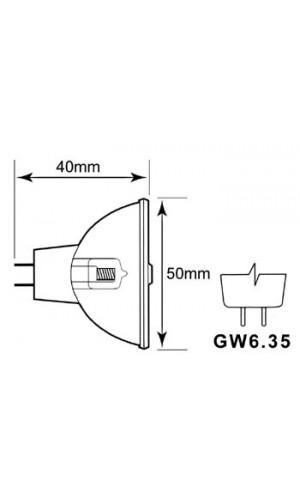 Lámpara 150W 15V - Lampara halógena de 150W y 15V.Modelo lamp150/15.Ref: lamp150-15
