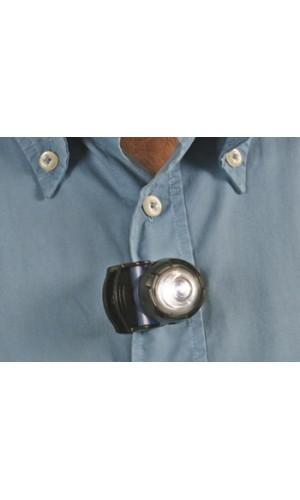 Linterna Frontal a Leds - Linterna frontal con led muy luminoso con clip.Ref: zlhl510