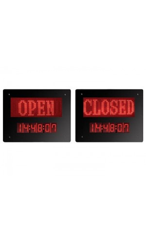 Panel Led Open / Closed con Reloj - Panel led