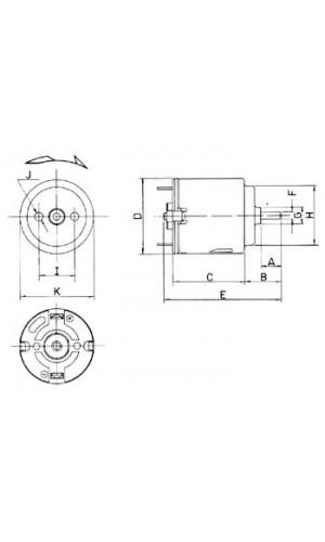 Motorcito 3 VDC  14200RPM (1.5 a 3 V ) - Motorcito DC 3VDC 350mA 14200 rpm (1.5-3DVC).Ref: mot1n