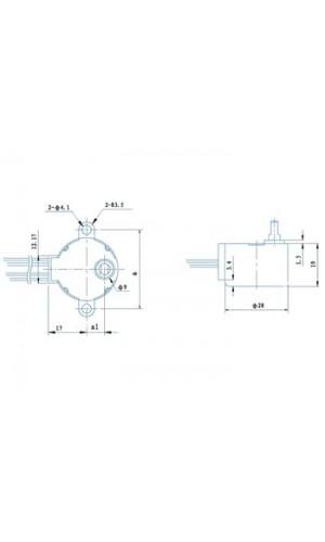 Motor paso a paso 12VDC - Motor paso a paso  12VDC 32mA (Ángulo 5.625° / 64 PASOS) Ref: mots1