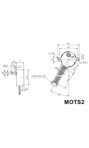 Motor paso a paso 12 VDC 48 pasos - Motor paso a paso  12VDC 60mA (ángulo  7.5° / 48 pasos).Ref: mots2