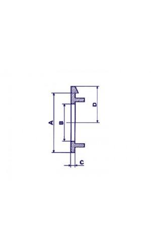 Flecha para Botón de 21mm (Negro)